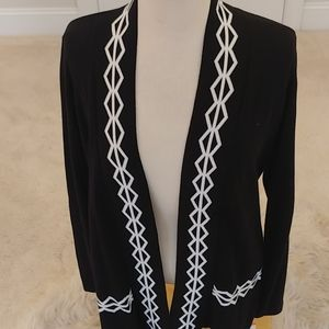 BELDINI open front cotton cardigan sweater